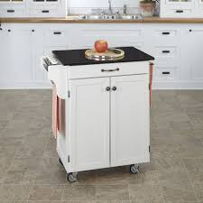 White Kitchen Cart With Granite Top Kitchen Alexandria Kitchen Island With Solid Granite Top In