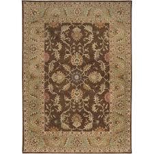 surya caesar 8 x 11 hand tufted wool rug in brown