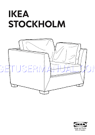 ikea chairs stockholm armchair 1 5 seat assembly instruction free