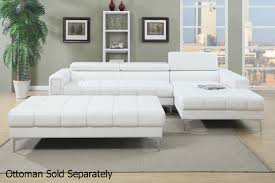 leather sectional living room furniture. Chester White Leather Sectional Sofa Living Room Furniture