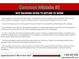 North Carolina Workers Compensation Guide 9 Common Mistakes That Ca