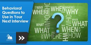 Behavioral Interviewing Behavioral Interviewing Candidate Profiling Checklist