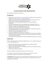 Nanny Job Responsibilities Resume Mechanic Job Description Resumes Template Resume Executive 71