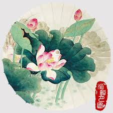 Paper Lotus Flower Us 22 26 6 Off Large Grenn Leaf Oil Paper Umbrella Blossom Lotus Flower Summer Scenery Paper Parasol Season Dance Hands Paper Umbrella In Umbrellas