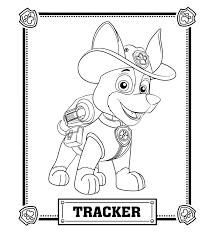 Paw Patrol Tracker Coloring Pages Trevon Paw Patrol Coloring