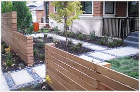 Relaxing front yard fence remodel ideas Backyard Vertical Wood Front Fence Renoguide 50 Modern Front Yard Designs And Ideas Renoguide Australian