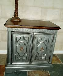 painted furniture ideas tables. Faux Painting Furniture: Antiqued Pewter Side / Accent Table Painted Furniture Ideas Tables