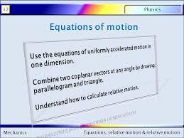 1 mechanics physics12 equations relative motion relative motion mechanics physics12 equations relative motion relative motion equations of motion