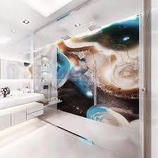 china bathroom wall art panel blue