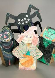 best kids crafts for halloween images chalk  whether itae s scary puppets or friendly characters double the fun when you