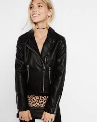 148 express black minus the leather zip moto jacket
