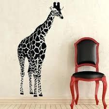 giraffe wall decor giraffe wall decals animals vinyl sticker living room decor baby kids wall decor