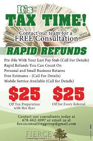 Tax Flyer Design Tax Preparation Flyers Templates Makar Bwong Co