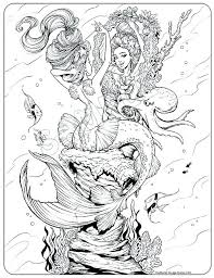 Realistic Mermaid Coloring Pages The Little Mermaid Coloring Page