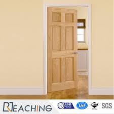6 block modern design composite wood veneer door panel for bedroom