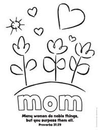 Elegant Mothers Day Christian Coloring Pages Nichome