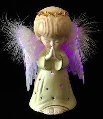 Angel Night Light Porcelain Details About White Angel Night Light With Fiber Optic Wings