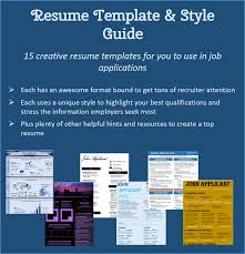 Resume Template Style Guide Reverse Tide