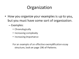 exemplification a mode ppt organization how you organize your examples is up to you but you must have some