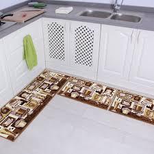 3 Piece Kitchen Rug Sets Ustide Vintage 3 Piece Colorful Cobblestone Kitchen Rug Set