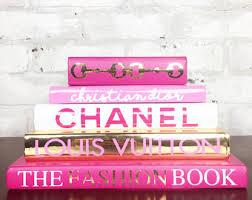 Designer Books Decor Fashion Books Decor Etsy 22