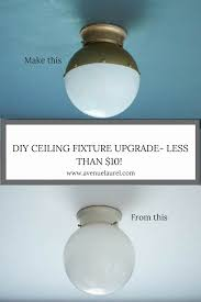 Builders Warehouse Indoor Lighting Diy Flush Mount Ceiling Light Upgrade Diy Light Fixtures