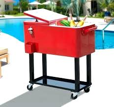 1 of outdoor cooler cart patio party portable rolling diy