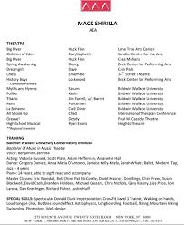 Mack Shirilla Actor Singer Dancer