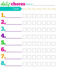Free Printable Chore Chart For 4 Year Old Free Printable Chore Charts For Kids Ideas By Age
