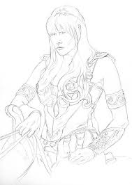 warriors coloring xena warrior princess tattoo google search