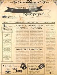Editable Old Newspaper Template Editable Newspaper Template