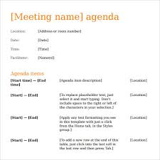Work Meeting Agenda Sample Agenda Template 41 Download Free Documents In Pdf