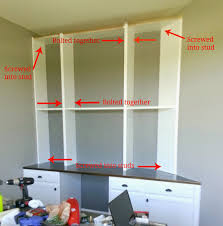 built in desk and bookshelves how to and source diy wall unit