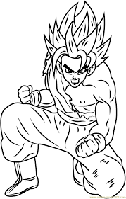 Chibi Dragon Ball Z Coloring Pages With Dragon Ball Z Gogeta