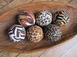 Decorative Balls For Bowl African Safari Decorative Fabric Rag Balls Fabric Chotchkies 13