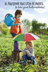 outdoor activities for kids. 24 Awesome - But EASY Outdoor Activities To Lure Your Kids From Technology This For