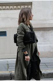 military trend camille callen is wearing a pimkie army green trench coat