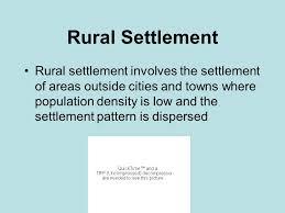 Settlement Patterns Definition Magnificent Rural Settlement Patterns Ppt Video Online Download