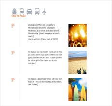 Word S Day Template Trip Itinerary Template 20 Free Word Excel Documents Download