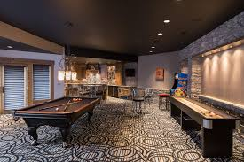 game room lighting ideas. Recessed Lighting Ideas For Living Room Basement Game Contemporary With Pool Table Painted Ceiling Black C