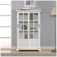 ameriwood home abel place white glass door bookcase hd51330 the home depot