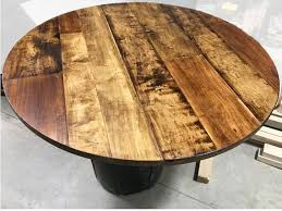 1 round table top maple plank table top