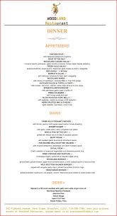 Menu Templates Microsoft Word Microsoft Word Restaurant Menu Template Investment Agreement Doc 24