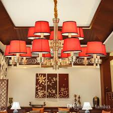 new chinese style high end copper red led chandelier lights lanterns classic creative decorative led chandeliers lighting led pendant lamps chandelier