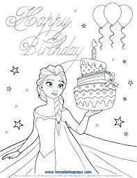 Birthday Coloring Page Clanfieldinfo