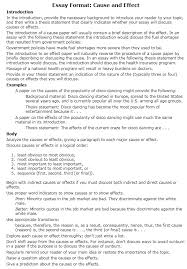 Cause And Effect Essay Samples How To Write A Cause And Effect Essay Examples At Kingessays