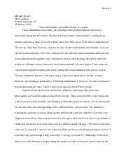 transcendentalism study resources 4 pages transcendentalism