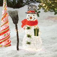 Snowman Christmas Decoration with Clear Lights Outdoor Lighted Decorations You\u0027ll Love | Wayfair
