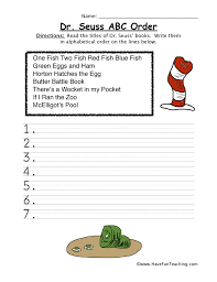 Dr. Seuss Worksheets | Have Fun Teaching