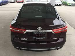 New 2017 Toyota Avalon 4 Door Car in Kelowna, BC 7AV6948